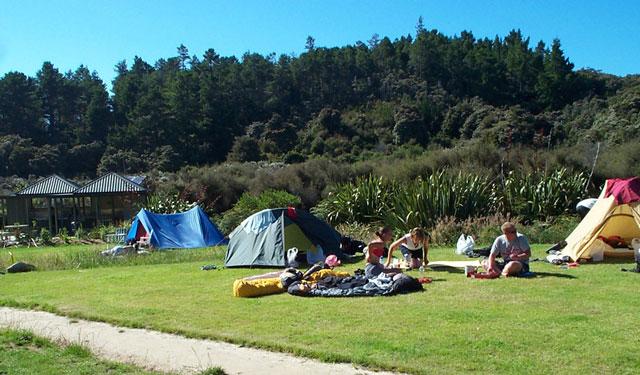 New Zealand family camping