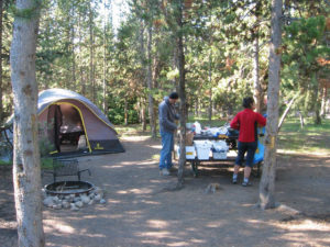 Yellowstone National Park camping